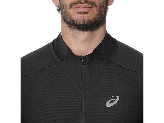 SS 1/2 ZIP TOP PERFORMANCE BLACK 23