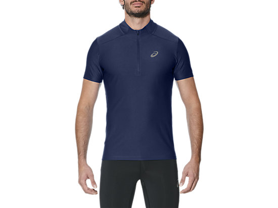 SHORT-SLEEVED HALF-ZIP TOP INDIGO BLUE 3