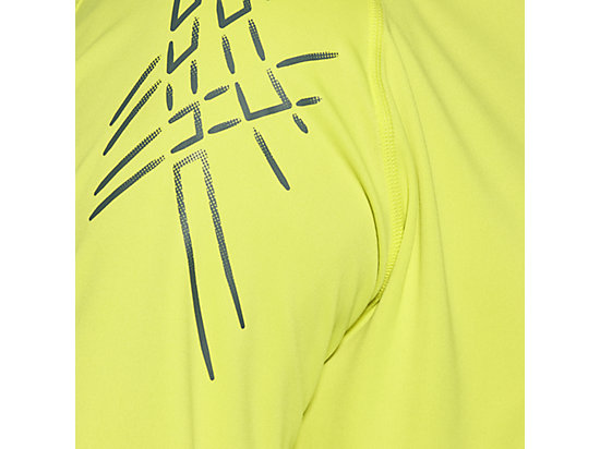 ASICS STRIPE LONG-SLEEVED HALF-ZIP TOP SULPHUR SPRING 15 Z