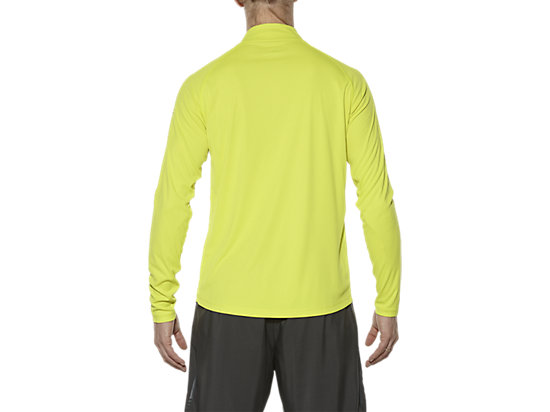 ASICS STRIPE LONG-SLEEVED HALF-ZIP TOP SULPHUR SPRING 11 BK