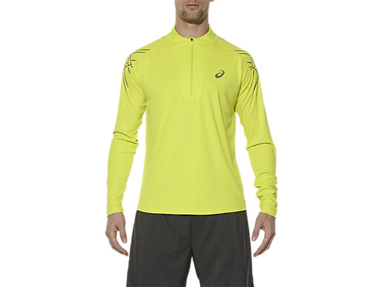 ASICS STRIPE LONG-SLEEVED HALF-ZIP TOP SULPHUR SPRING 3 FT