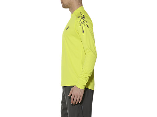 ASICS STRIPE LONG-SLEEVED HALF-ZIP TOP SULPHUR SPRING 7 LT