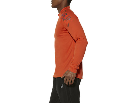 ASICS STRIPE LONG-SLEEVED HALF-ZIP TOP KOI 7