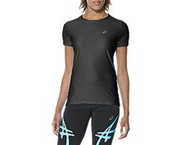 SHORT-SLEEVED TOP, B-GRADE PERFORMANCE BLACK