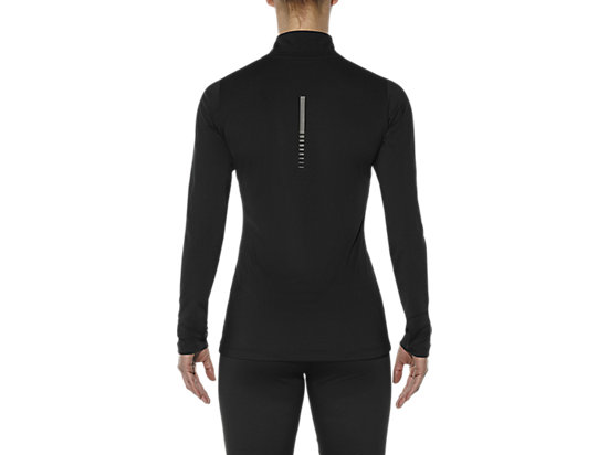 LONG-SLEEVED HALF-ZIP TOP PERFORMANCE BLACK 11