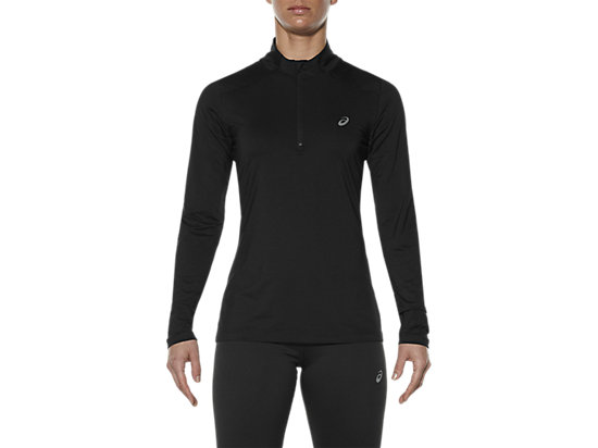 LONG-SLEEVED HALF-ZIP TOP PERFORMANCE BLACK 3