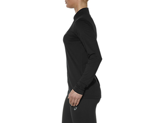LONG-SLEEVED HALF-ZIP TOP PERFORMANCE BLACK 7