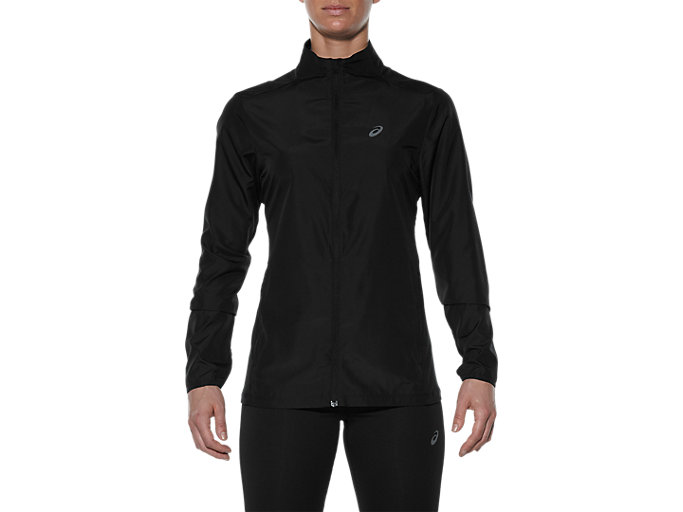 Front Top view of JACKET, PERFORMANCE BLACK