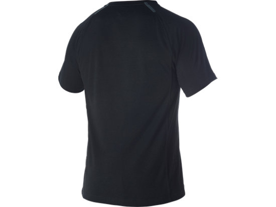 Linen Short Sleeve Crew Performance Black 7