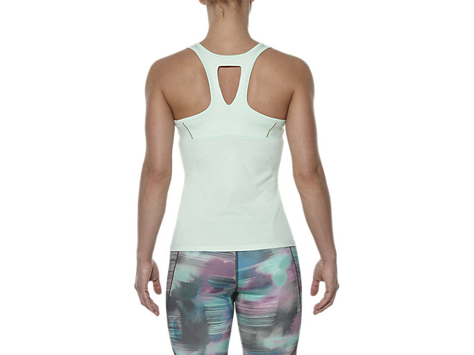 Back view of SPORTS TANK TOP, Soothing Sea