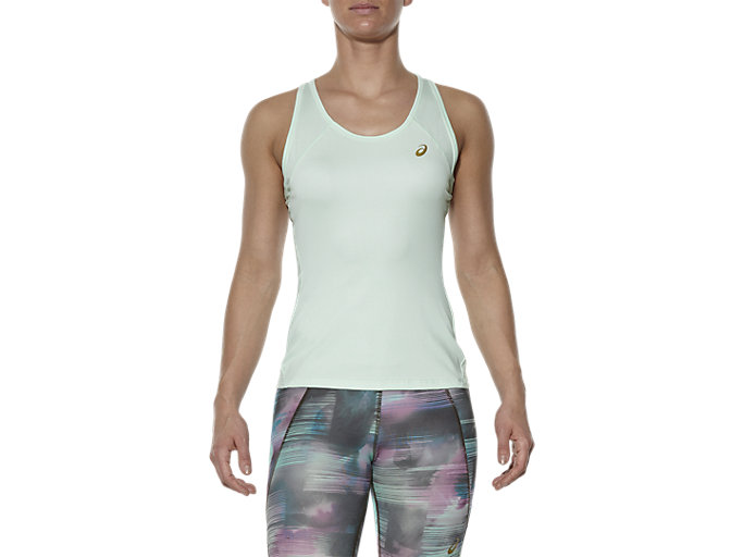 Front Top view of SPORTS TANK TOP, Soothing Sea