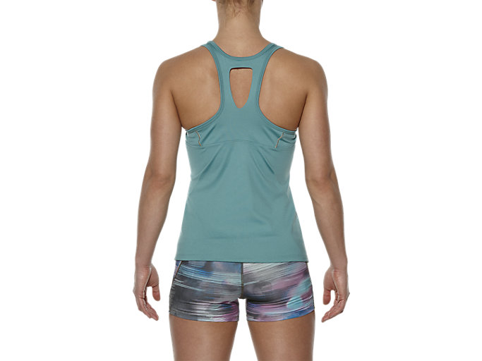 Back view of SPORTS TANK TOP, Kingfisher