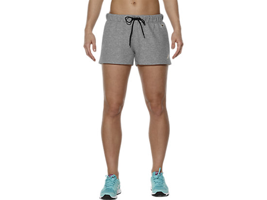 FLEECE-SHORTS, Heather Grey