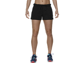 Front Top view of FLEECE-SHORTS, Performance Black