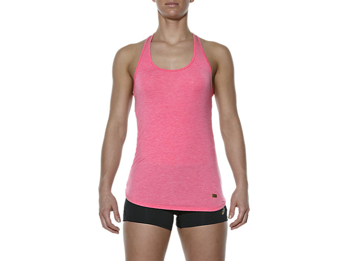 Front Top view of SLIM TANK TOP, Camelion Rose