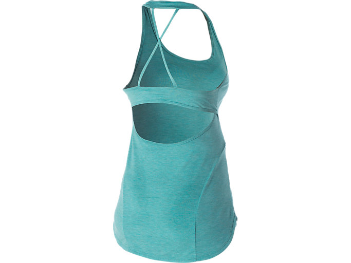 Back view of SLIM TANK TOP, Kingfisher