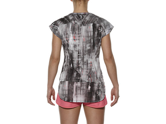 TOP MET KORTE MOUWEN BLK/WH VERSION ABSTRACT PRINT 19