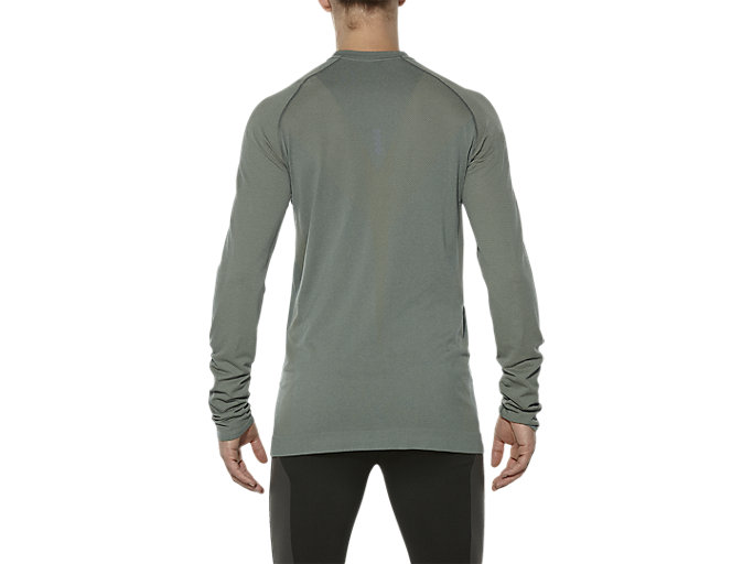 Back view of SEAMLESS LS, EUCALYPTUS