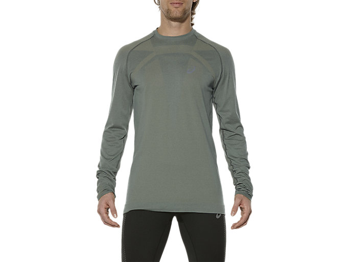 Front Top view of SEAMLESS LS, EUCALYPTUS