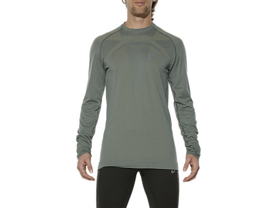 SEAMLESS LONG-SLEEVED TOP EUCALYPTUS 3