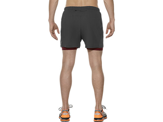 2-IN-1 5-INCH RUNNING SHORTS DARK GREY/POMEGRANATE 7