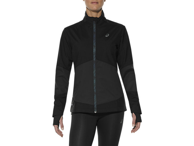 Front Top view of WINDSTOPPER JACKET, Performance Black