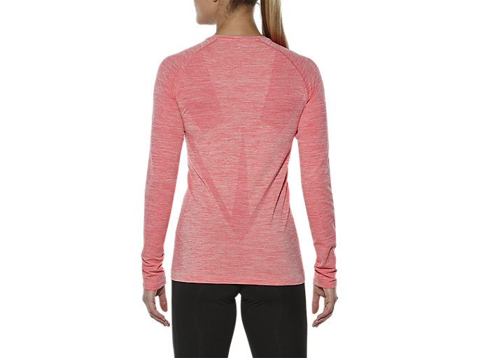 Back view of SEAMLESS LS, PEACH MELBA