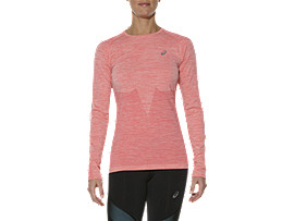 Front Top view of SEAMLESS LS, PEACH MELBA