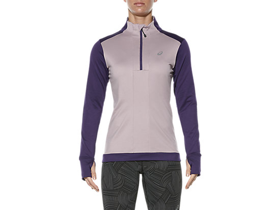 LONG-SLEEVED HALF-ZIP WINTER TOP, Parachute Purple
