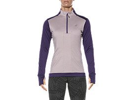 LONG-SLEEVED HALF-ZIP WINTER TOP