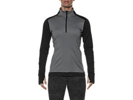 LONG-SLEEVED HALF-ZIP WINTER TOP, Performance Black