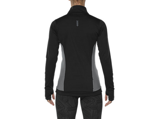 LONG-SLEEVED HALF-ZIP WINTER TOP PERFORMANCE BLACK 11