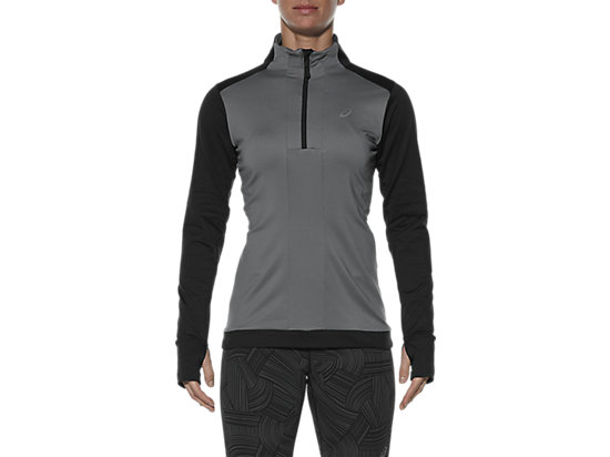 LONG-SLEEVED HALF-ZIP WINTER TOP PERFORMANCE BLACK 3