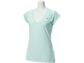 Front Top view of MAGLIA A MANICA CORTA ATHLETE, Soothing Sea