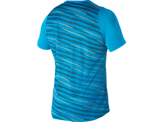 Athlete Short Sleeve Top High Rally Blue Jewel 11
