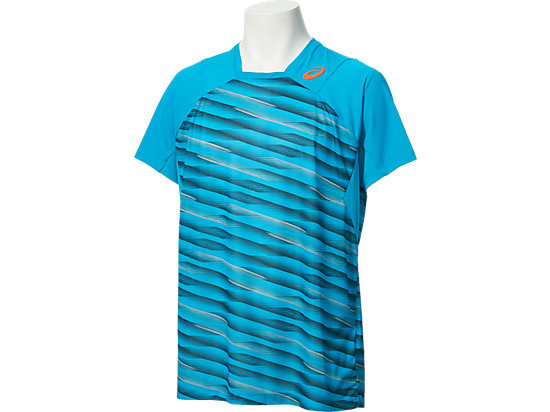 Athlete Short Sleeve Top High Rally Blue Jewel 3