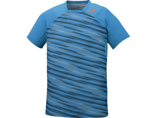 Athlete Short Sleeve Top High Rally Blue Jewel 7