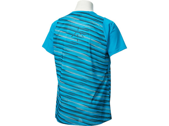 Athlete Short Sleeve Top High Rally Blue Jewel 19