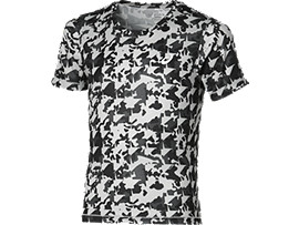 Front Top view of BOY'S PERFORMANCE TOP, Midgrey Boys Camo