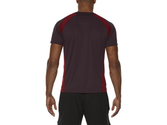 SHORT SLEEVE TECH TOP RIOJA RED 11