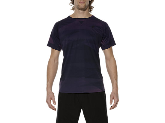 SHORT SLEEVE PRINT TOP, Infinity Purple Camo