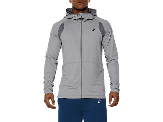 SWEAT À CAPUCHE ZIPPÉ HEATHER GREY 3