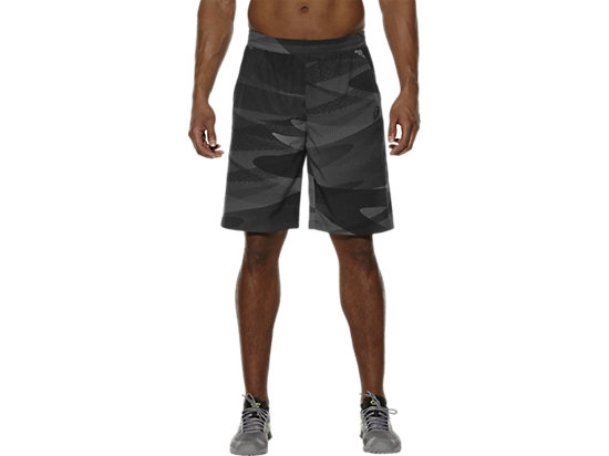 BEDRUKTE SHORT PERFORMANCE BLACK CAMO 3
