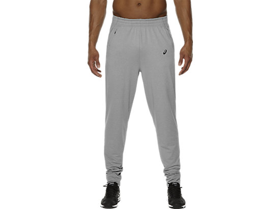 KNITTED JOGGING BOTTOMS, Heather Grey