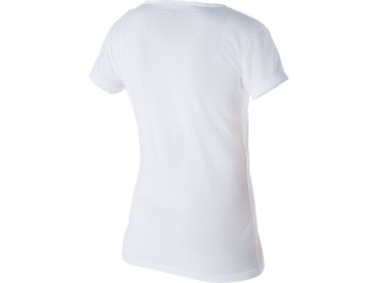 Graphic Short Sleeve Top Real White 7