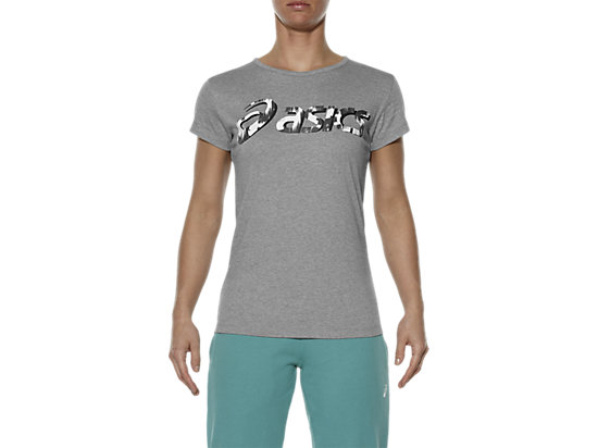 GRAPHIC SHORT SLEEVE TOP HEATHER GREY 3