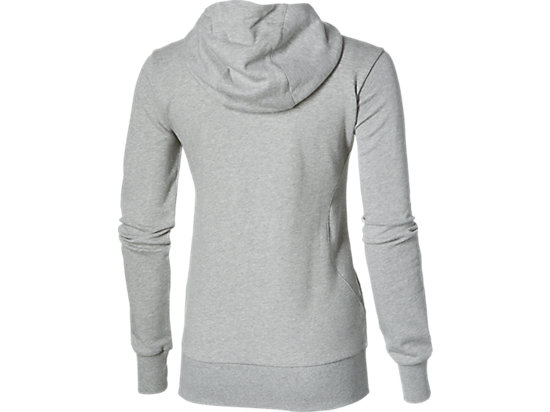 FELPA CON CAPPUCCIO IN MAGLIA E ZIP INTEGRALE HEATHER GREY 15