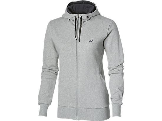 FULL ZIP KNIT HOODIE HEATHER GREY 3