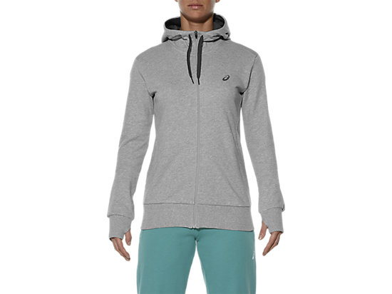 FULL ZIP KNIT HOODIE HEATHER GREY 7
