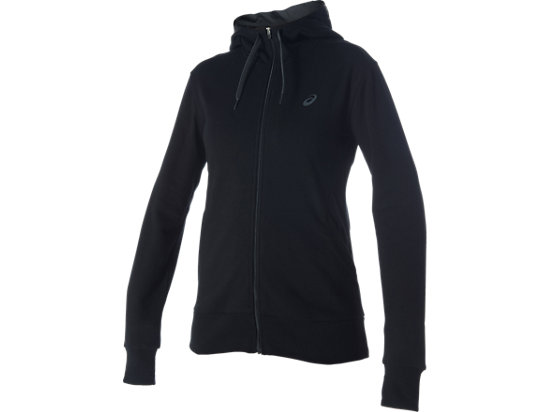 FULL ZIP KNIT HOODIE, Performance Black